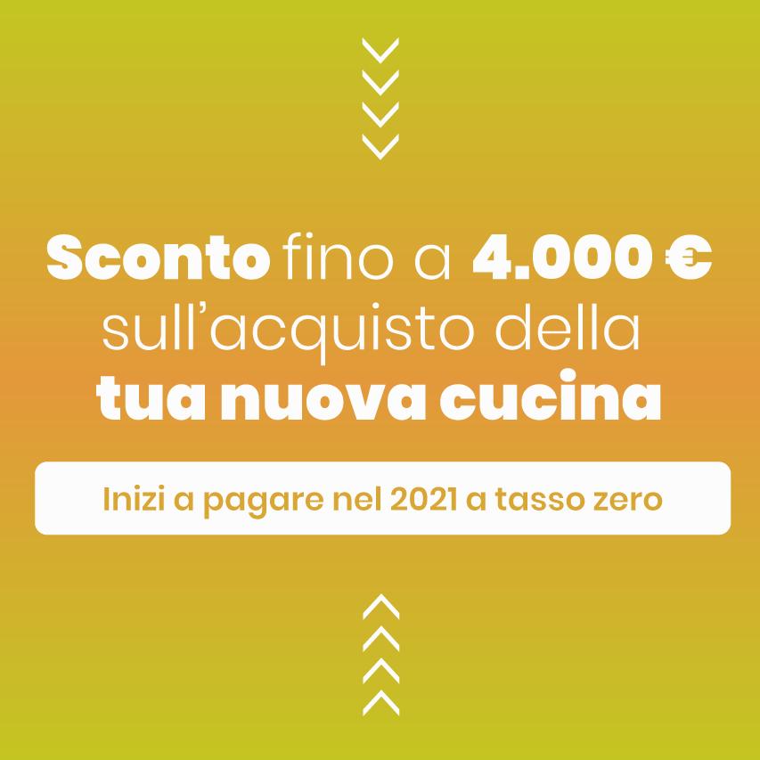PER LA TUA NUOVA CUCINA FINO A 4.000€ DI SCONTO!